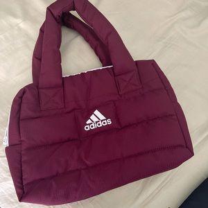 Burgundy Adidas Puffer Bag